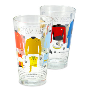 Star Trek Uniforms & Equipment Pint Glasses [set of 2]