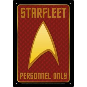 Star Trek Starfleet Personnel Only Tin Sign