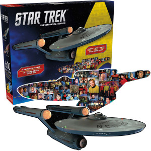 Star Trek The Original Series Enterprise and Collage 2 Sided 600pc Puzzle