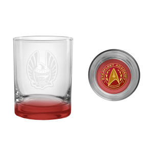 Star Trek Star Fleet Academy Command Rocks Glass