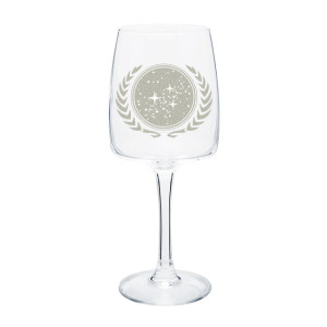 Star Trek United Federation of Planets Wine Glass