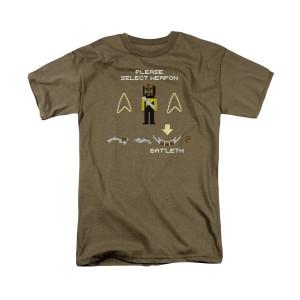 Star Trek The Next Generation Worf Pixel T-Shirt