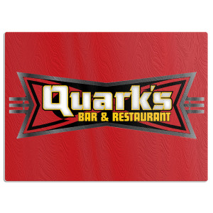 Star Trek Deep Space 9 Quark's Bar Glass Cutting Board