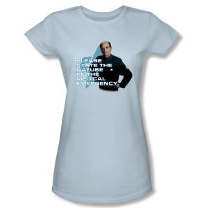 Star Trek Voyager Doctor Medical Emergency Women's Slim Fit T-Shirt