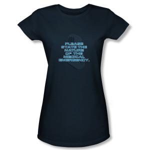Star Trek Voyager Medical Emergency Women's Slim Fit T-Shirt
