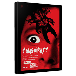 Star Trek The Next Generation Conspiracy Canvas [12x18]
