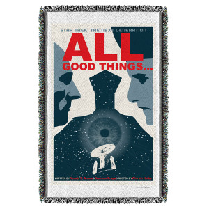 Star Trek The Next Generation All Good Things… Woven Throw [36 x 58]