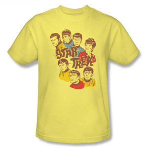 Star Trek Retro Illustrated Crew T-Shirt