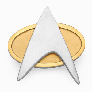 DNU Star Trek Commemorative Stamped Star Fleet Pin