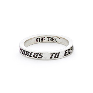 Star Trek x RockLove Sterling Intro Stacker Ring - To Explore