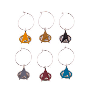 Star Trek The Next Generation Wine Charms [set of 6]