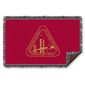 Star Trek Starfleet Academy Logo Throw Blanket
