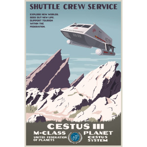 Star Trek Enterprise Shuttle Service Poster [16x24]
