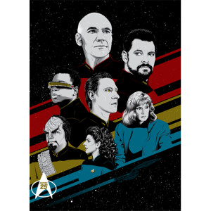 Star Trek TNG25 Lithograph [18x24]