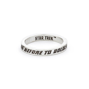 Star Trek x RockLove Sterling Intro Ring, To Boldly Go