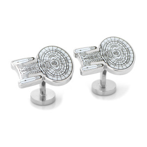 Star Trek The Next Generation Blue Prints Cufflinks