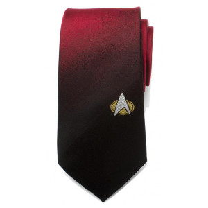 Star Trek The Next Generation Shield Red Ombre Men's Tie