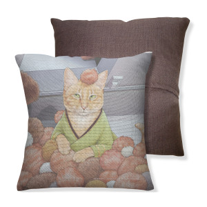 Star Trek The Original Series Cats Throw Pillow