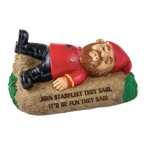 Star Trek Red Shirt Gnome Statue