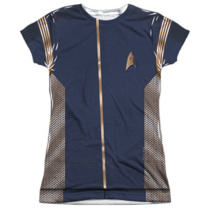 Star Trek Discovery Operations Uniform Costume Junior Slim Fit T-Shirt