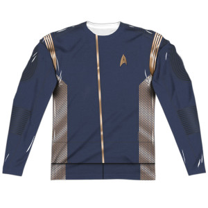 Star Trek Discovery Command Uniform Costume Long Sleeve T-Shirt