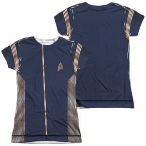 Star Trek Discovery Command Uniform Costume Junior Slim Fit T-Shirt