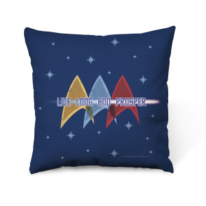 Star Trek Live Long and Prosper Throw Pillow
