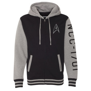 Star Trek The Original Series Enterprise Varsity Zip Hoodie
