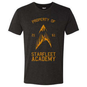 Star Trek Property Of Starfleet Academy T-Shirt (Vintage Black)