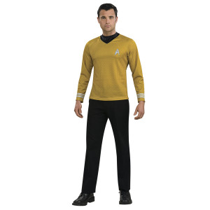 Star Trek Movie Captain Kirk Gold Shirt Adult Costume