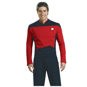 Star Trek Next Generation Commander Deluxe Red Shirt