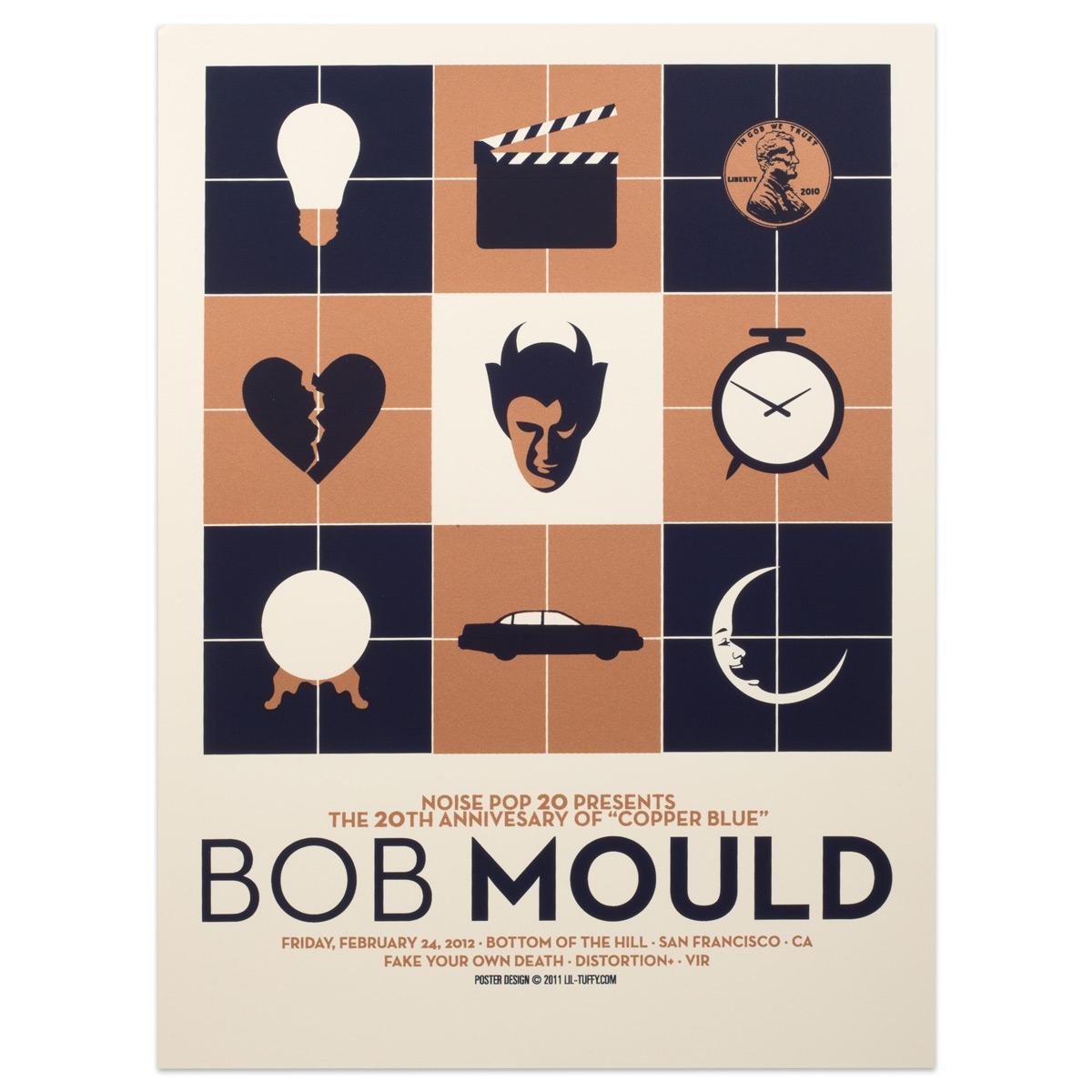 """Bob Mould """"Copper Blue"""" 20th Annivsary SF Show Poster"""