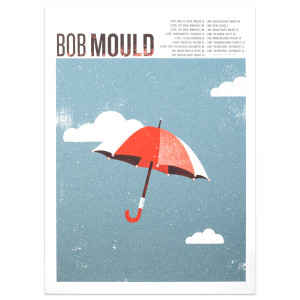 Bob Mould Umbrella 2016 Tour Poster