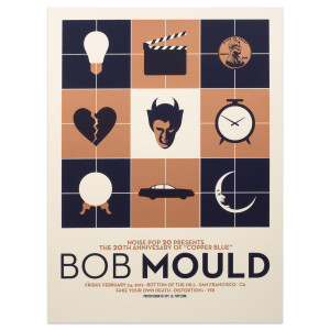 "Bob Mould ""Copper Blue"" 20th Annivsary SF Show Poster"