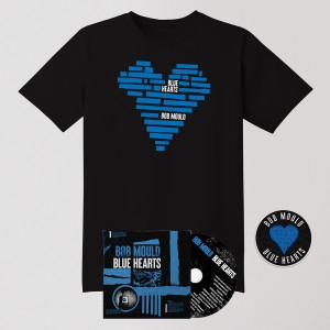 Blue Hearts CD Bundle - CD + Tee Shirt + Patch