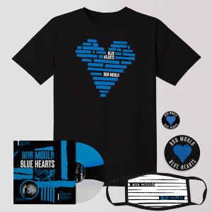 Blue Hearts Big Bundle - LP + Tee Shirt + Patch + Button + Face Mask