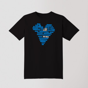 Blue Hearts Unisex Tee Shirt