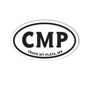 Crash My Playa 2019 Oval Sticker
