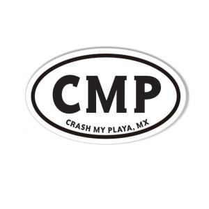 Crash My Playa 2019 Oval Sticker