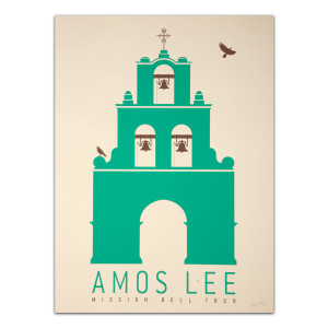 Amos Lee Mission Bell Tour Alamo Poster