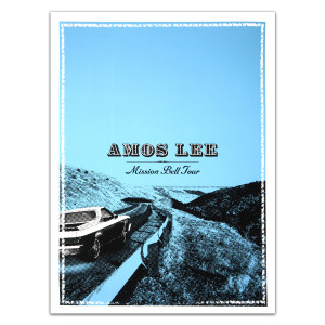 Amos Lee Mission Bell Tour Car Poster