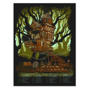 Amos Lee Summer 2014 Tour Treehouse Poster