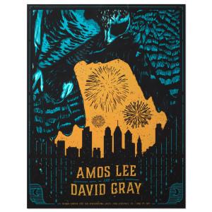Amos Lee 2015 Tour Poster Philadelphia, PA