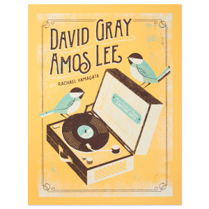 Amos Lee 2015 Tour Poster Huber Heights, OH