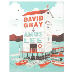 Amos Lee 2015 Tour Poster San Diego, CA