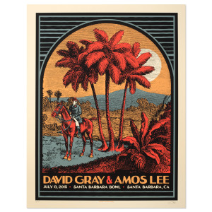 Amos Lee 2015 Tour Poster Santa Barbara, CA