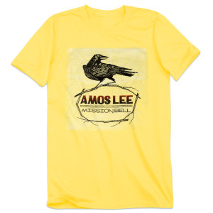 Amos Lee Mission Bell Crow T-Shirt - Yellow