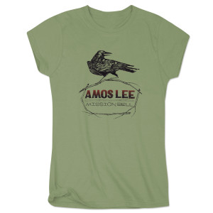 Amos Lee Mission Bell Crow Women's T-Shirt - Olive