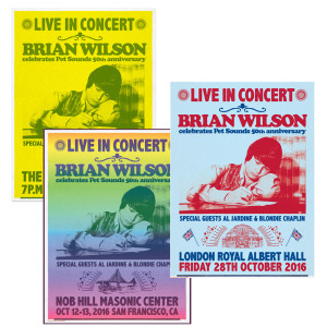 Set of 3 Hand Signed Brian Wilson Posters