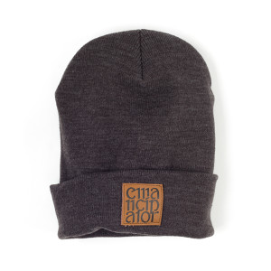 Emancipator Leather Patch Beanie